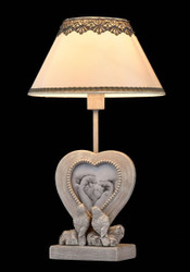 Casa Padrino luxury table lamp grey antique / lampshade ivory 25 x 46 cm - lamp - Luxury Collection