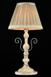 Casa Padrino Luxus Tischleuchte Weiß Patina/ Lampenschirm Elfenbein Grau 20 x 41 cm - Leuchte - Luxury Collection