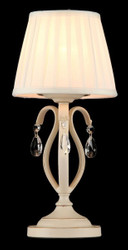 Casa Padrino luxury crystal table lamp cream gold / lampshade white 18 x 39 cm - lamp - Luxury Collection