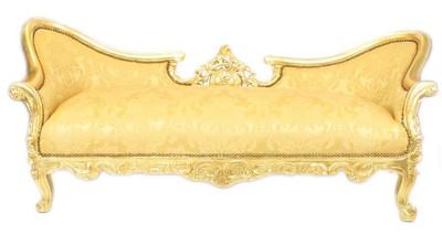 Casa Padrino Barock Sofa Garnitur Vampire Gold Blumen Muster ...