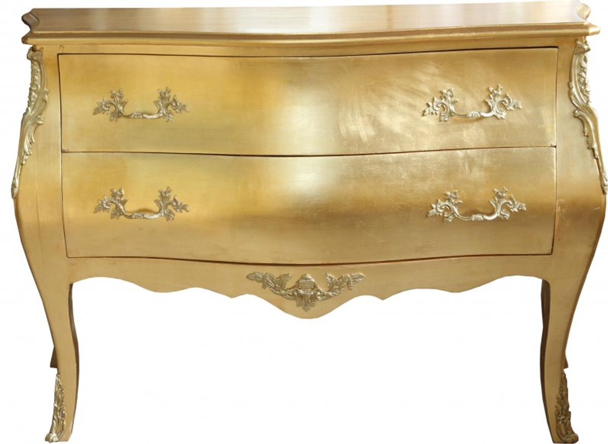 Casa Padrino Barock Kommode Gold Mit 2 Schubladen 124 Cm