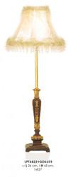 Casa Padrino Barock Tischleuchte Gold 26 x H 65 cm - Luxus Tisch Leuchte - Nostalgisch und prunkvoll