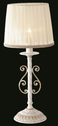 Casa Padrino luxury table lamp white gold / lampshade white 22 x 52 cm - lamp - Luxury Collection