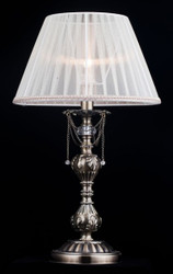 Casa Padrino luxury crystal table lamp bronze / lampshade white 32 x 58 cm - lamp - Luxury Collection