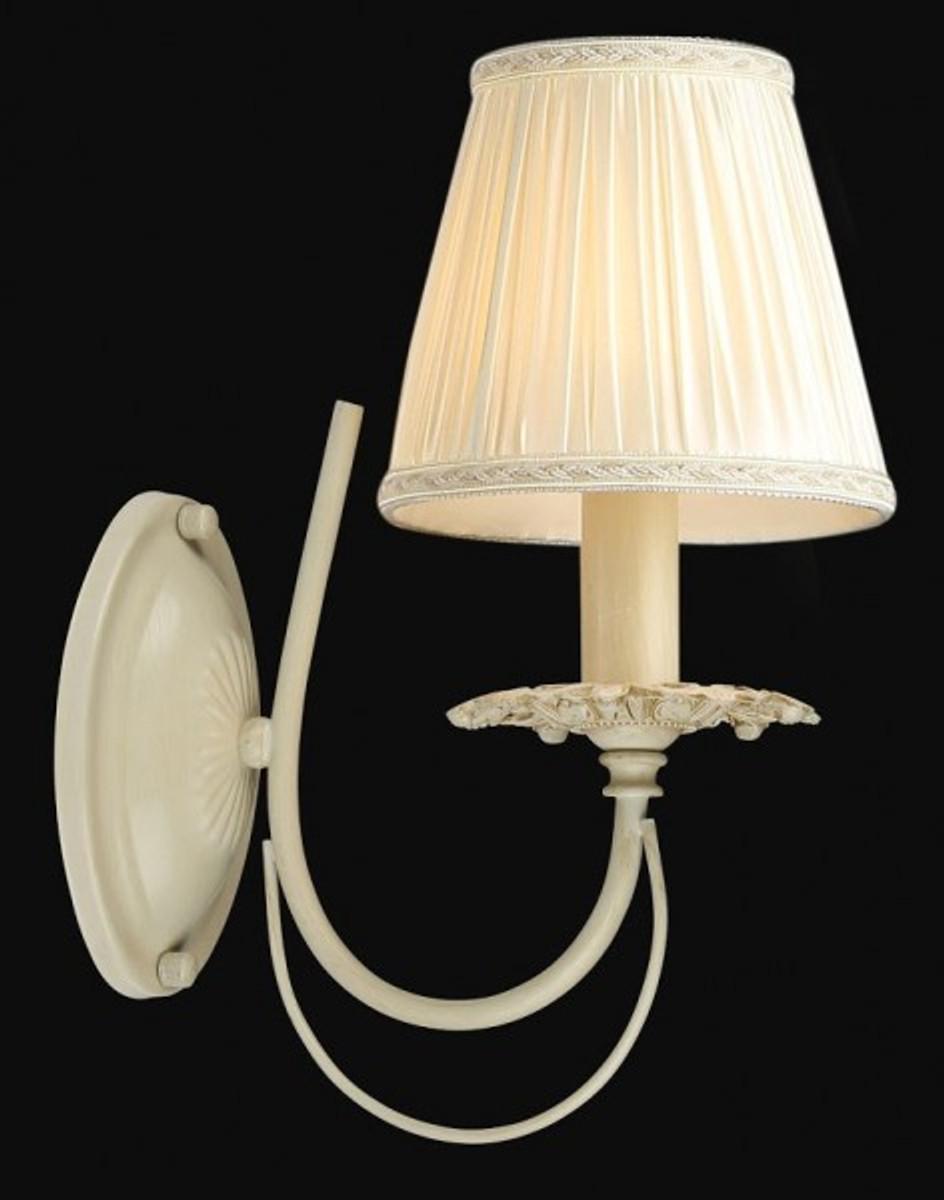 casa padrino barock wandleuchte elfenbein 15 x h 31 cm antik stil wandlampe wand beleuchtung. Black Bedroom Furniture Sets. Home Design Ideas