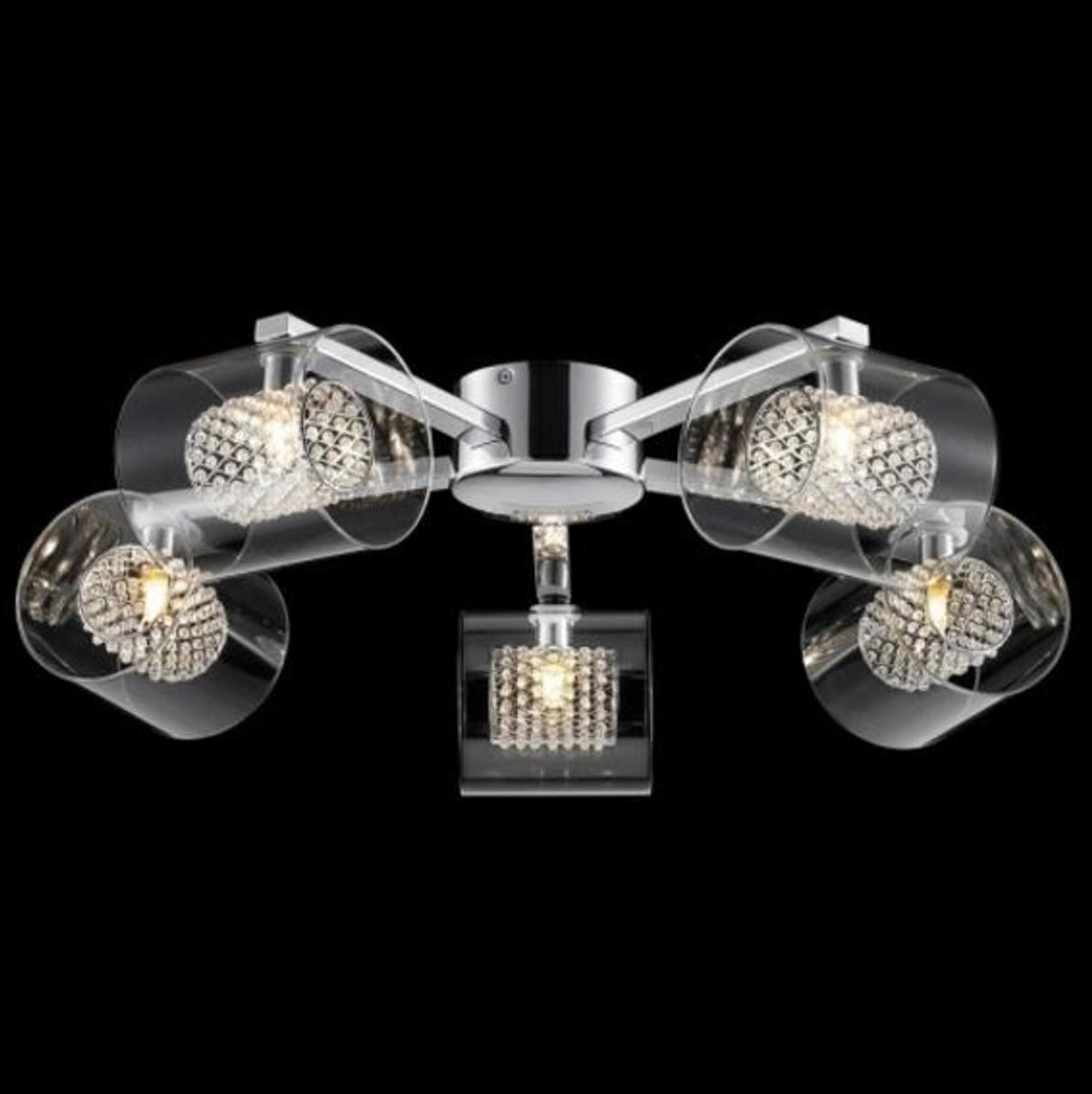 Casa Padrino Barock Decken Kronleuchter Chrom 61 X H 17 Cm Modern Stil    Möbel Lüster