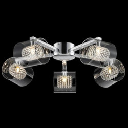 Casa Padrino Modern ceiling chandelier chrome 61 x H 17 cm antique style - Furniture Chandelier Chandelier pendant light hanging lamp