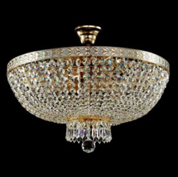 Casa Padrino Baroque ceiling crystal chandelier white gold 50 x H 37 cm antique style - Furniture Chandelier Chandelier ceiling lamp