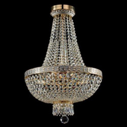 Casa Padrino Baroque ceiling crystal chandelier white gold 40 x H 61 cm antique style - Furniture Chandelier Chandelier hanging lamp