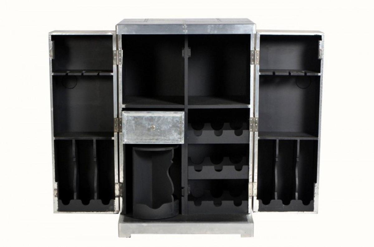 casa padrino luxus aluminium wein schrank koffer design. Black Bedroom Furniture Sets. Home Design Ideas