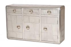 Casa Padrino luxury designer aluminum commode - Art Deco Vintage furniture