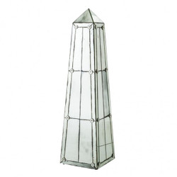Huge Casa Padrino luxury Obelisk sculpture antique style mirror glass - Hotel facility - luxury decoration