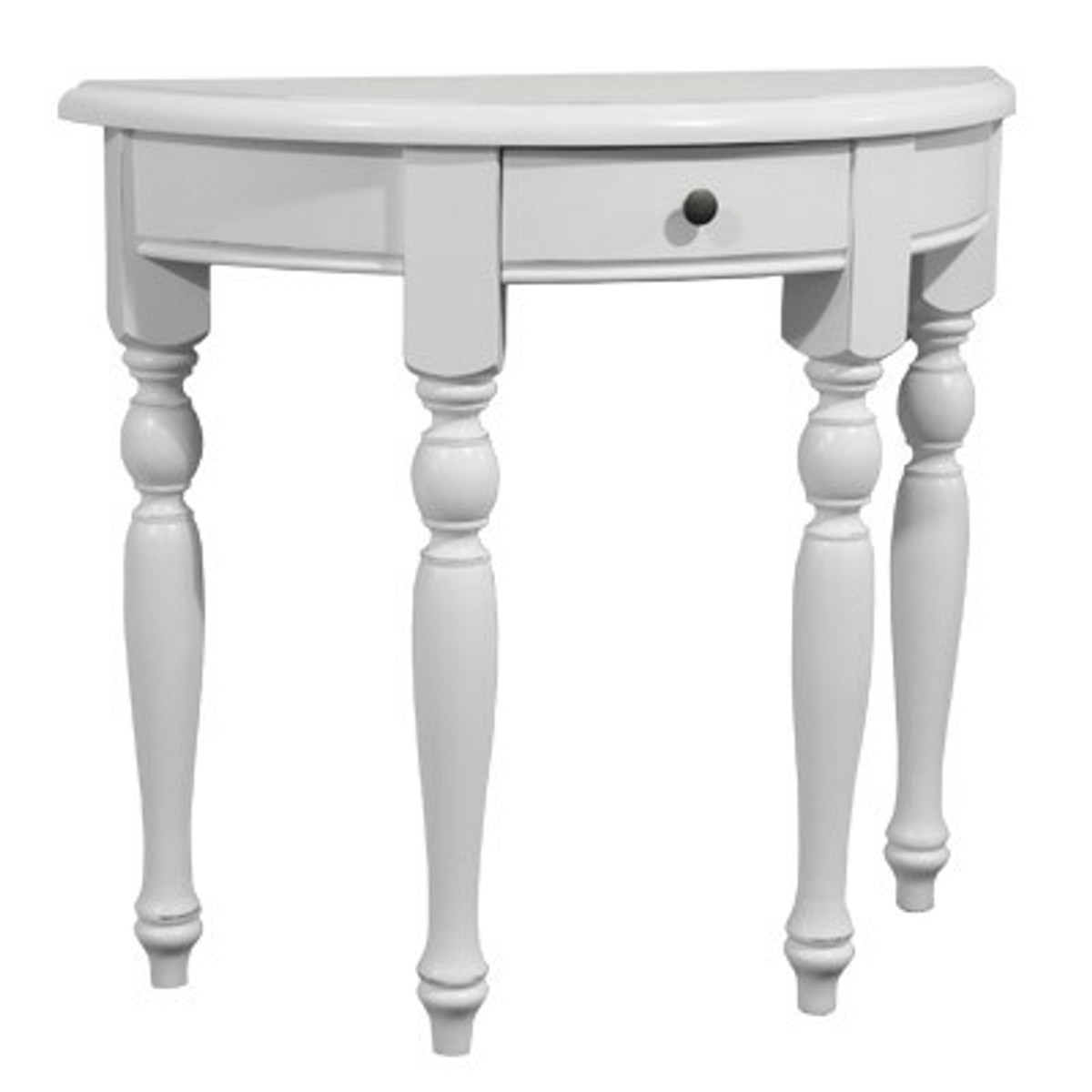 Casa Padrino Console Table With Drawers White   Crescent Table   Secretary  Console   Telephone Table