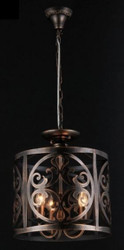Casa Padrino Baroque ceiling chandelier braun 43 x H 36 cm antique style - Furniture Chandelier Chandelier hanging lamp