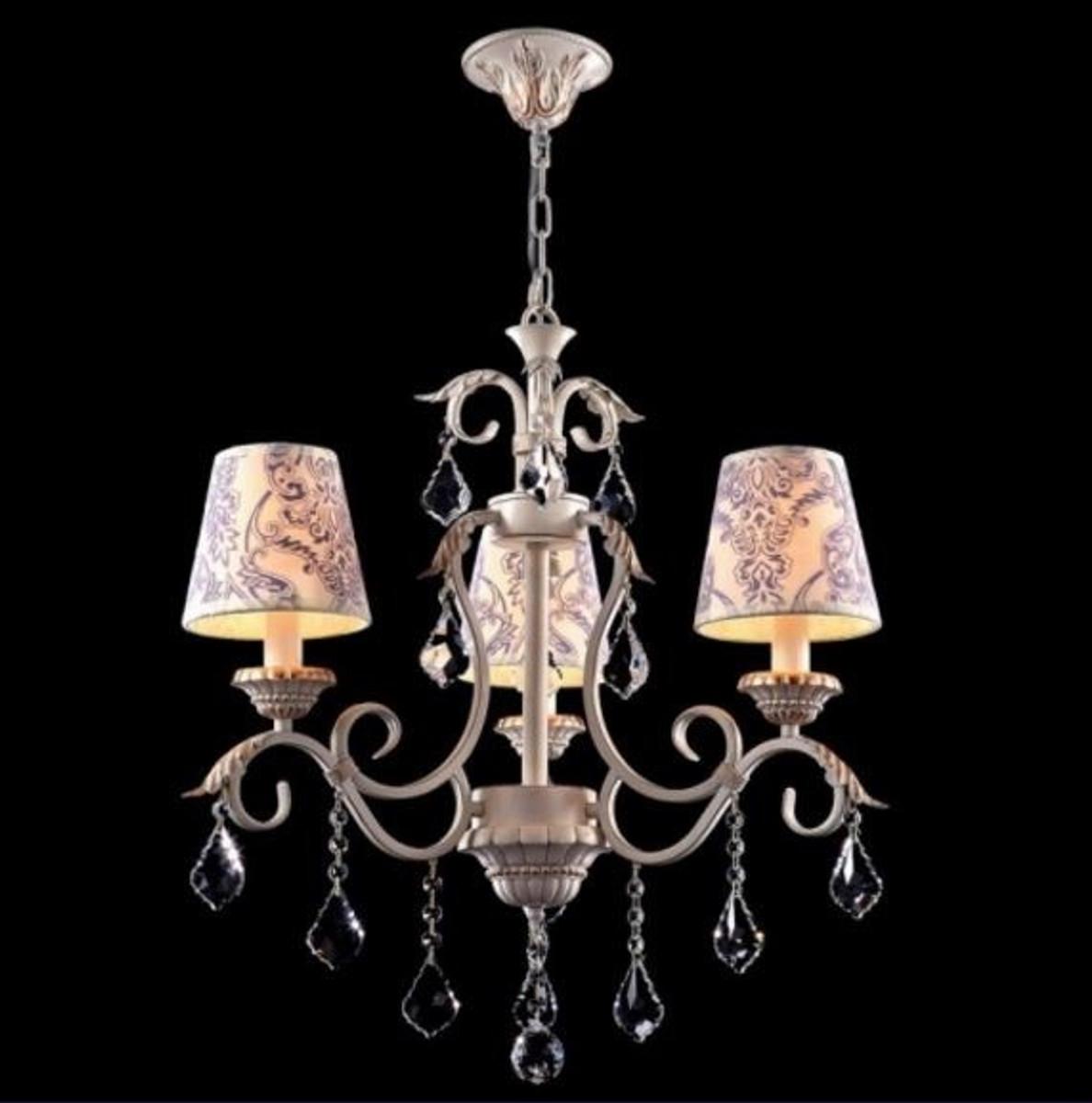 casa padrino barock decken kristall kronleuchter creme gold 58 x h 61 cm antik stil mbel lster leuchter deckenleuchte hngelampe - Kronleuchter Deckenleuchte