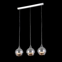 Casa Padrino Art Nouveau Ceiling Hanging Lamp Nickel 57 x H 100 cm Antique Style - Furniture Chandelier Chandelier Hanging Lamp