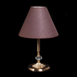 Casa Padrino luxury crystal table lamp bronze / lampshade brown 31 x 50 cm - lamp - Luxury Collection