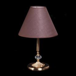 Casa Padrino Luxus Kristall Tischleuchte Bronze / Lampenschirm Braun 31 x 50 cm - Leuchte - Luxury Collection