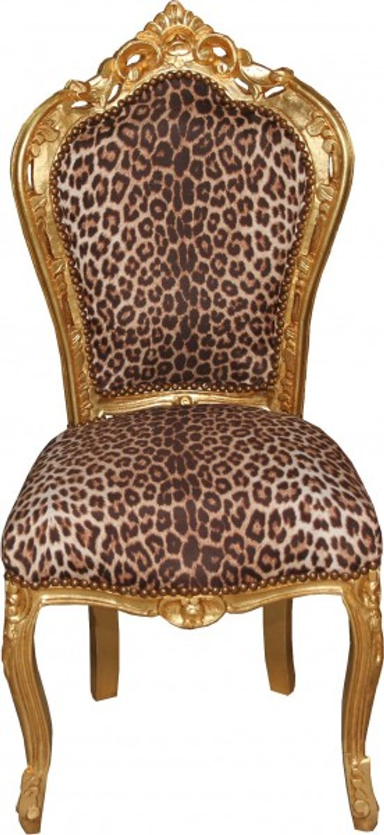 Baroque dining room chair leopard gold mod2 baroque for Baroque furniture usa