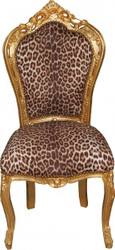 Baroque dining room chair Leopard / Gold Mod2 - Baroque furniture