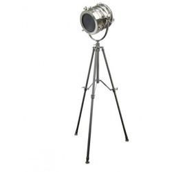 Casa Padrino Vintage tripod floor lamp stainless steel plated 170 cm - floor lamp Lamp
