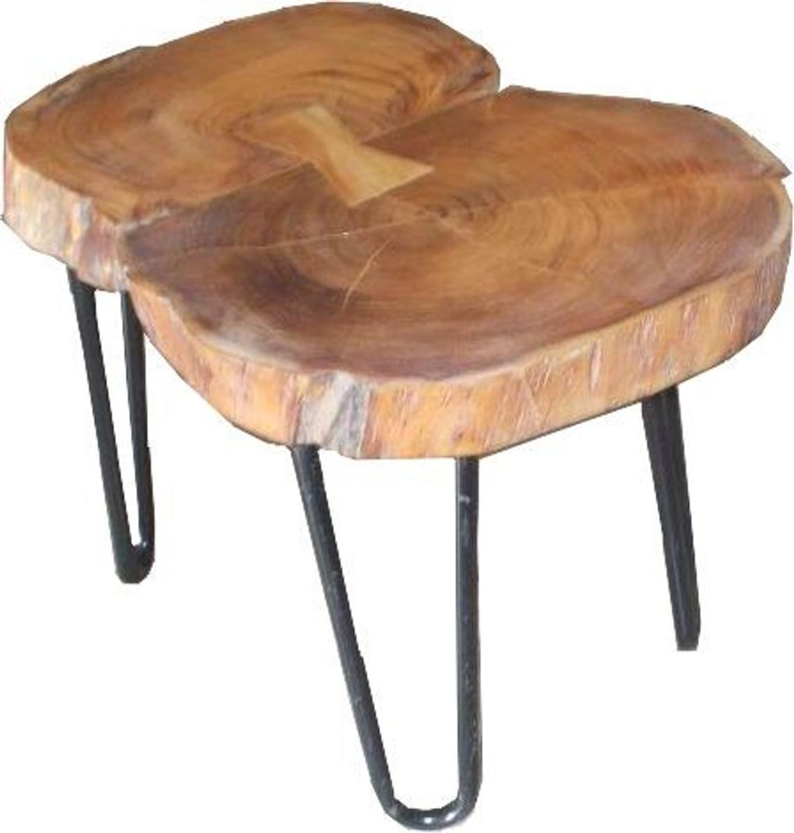 casa padrino beistelltisch akazien holz eisen 55 70 cm industrial m bel hocker tisch. Black Bedroom Furniture Sets. Home Design Ideas