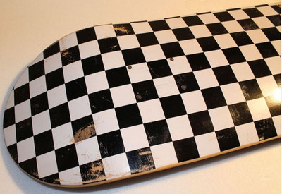 Checkered Skateboard Deck 7.75 inch  – Bild 2