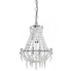 Casa Padrino Industry Ceiling Hanging White Diameter 42 x H 56 cm Industry - Furniture Hanging Lamp