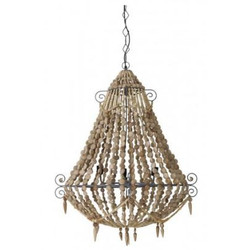 Casa Padrino Industry Ceiling Hanging Brown Diameter 81 x H 102 cm Industry - Furniture Hanging Lamp