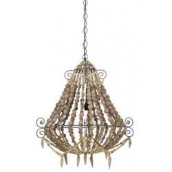 Casa Padrino Industry Ceiling Hanging Brown Diameter 73 x H 82 cm Industry - Furniture Hanging Lamp