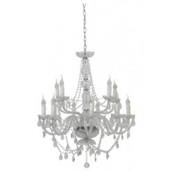 Casa Padrino Baroque Ceiling Crystal Chandelier Clear Diameter 82 x H 84 cm Antique Style - Furniture Chandelier Chandelier Hanging Lamp