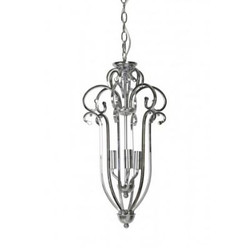 Casa Padrino Industry Ceiling Hanging Silver Diameter 28.5 x H 55 cm Industry - Furniture Hanging Lamp