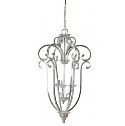 Casa Padrino Industry Ceiling Hanging Silver Diameter 46 x H 75 cm Industry - Furniture Hanging Lamp