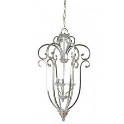 Casa Padrino Hängeleuchte Deckenleuchte Silber Durchmesser 46 x H 75 cm - Möbel Lüster Leuchter Deckenleuchte Deckenlampe
