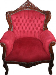 Casa Padrino Baroque armchair Lord Bordeaux Red / Brown - Antique style