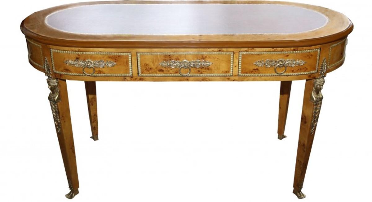 Casa Padrino Luxus Barock Empire Schreibtisch Sekretär Mit 3 Schubladen 150  Cm   Handgefertigt Aus Massivholz   Barock Schreibtisch Büro Möbel