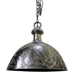Casa Padrino Antique style pendant lamp - aluminum pendant light nickel plated 47 x H 55 cm