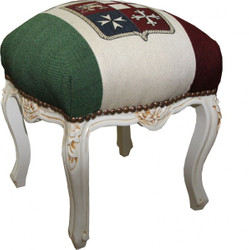 Casa Padrino baroque seating stool Italy design / antique style white height 40 cm, width 35 cm - baroque furniture