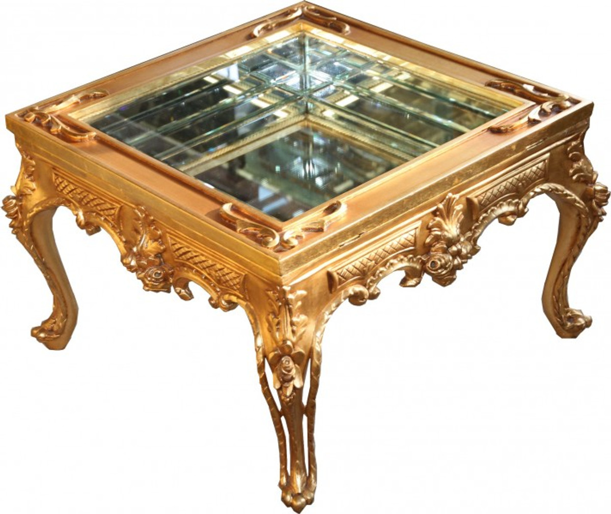 Prunkvoller casa padrino barock couchtisch gold for Couchtisch gold