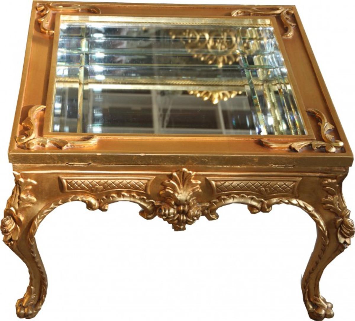 Prunkvoller casa padrino barock couchtisch gold - Couchtisch verspiegelt ...
