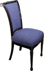 Casa Padrino Baroque Dining Chair Blue / Black Mod4 - Baroque Furniture