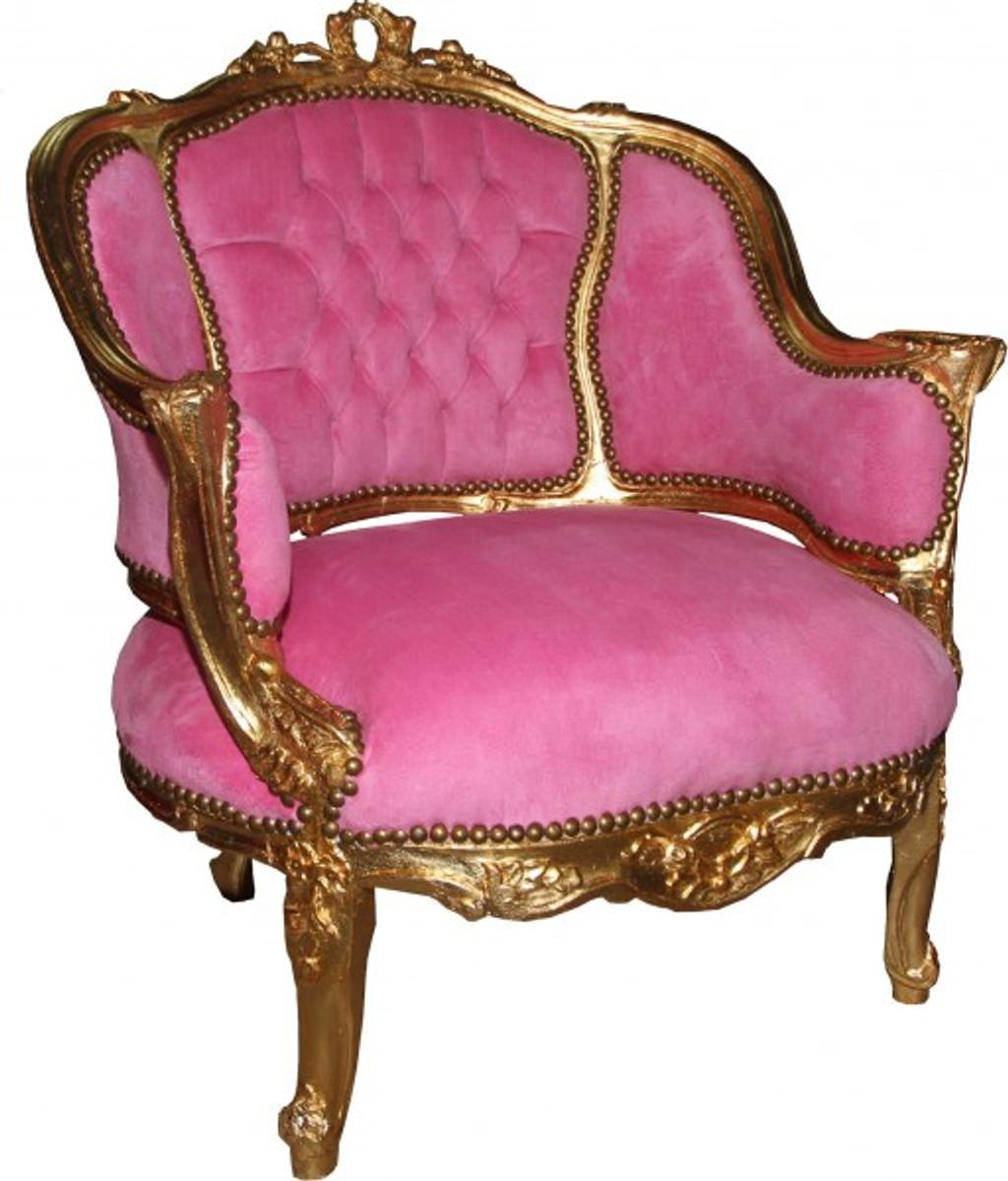 Casa Padrino Baroque Salon Lounge Chair Rose Gold Cocktail