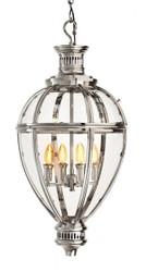 Casa Padrino Luxury Lantern - Luxury Hanging Light Nickel Diameter 36.5 x H 81 cm