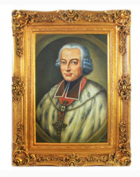 Handpainted Oil Painting Sir 3 Baroque Gold Prunkrahmen 130 x 100 x 10 cm - Solid Material