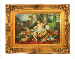 Handpainted Oil Painting family angel picture 7 Baroque Gold Prunkrahmen 130 x 100 x 10 cm - Solid Material