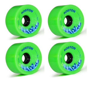 Koston Longboard Wheel Set Green 76mm / 78A  (4 Rollen) - Allround Wheels – Bild 1