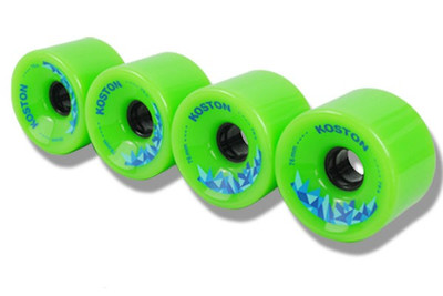 Koston Longboard Wheel Set Green 76mm / 78A  (4 Rollen) - Allround Wheels – Bild 2
