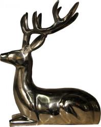 Casa Padrino Designer Deko Deer lying gold 18 x 13 x 23cm - polished aluminum figure sculpture