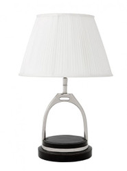 Casa Padrino Luxury Table Light Nickel Black Diameter 18 x 30 x H 46 cm - Luxury Hotel Table Lamp