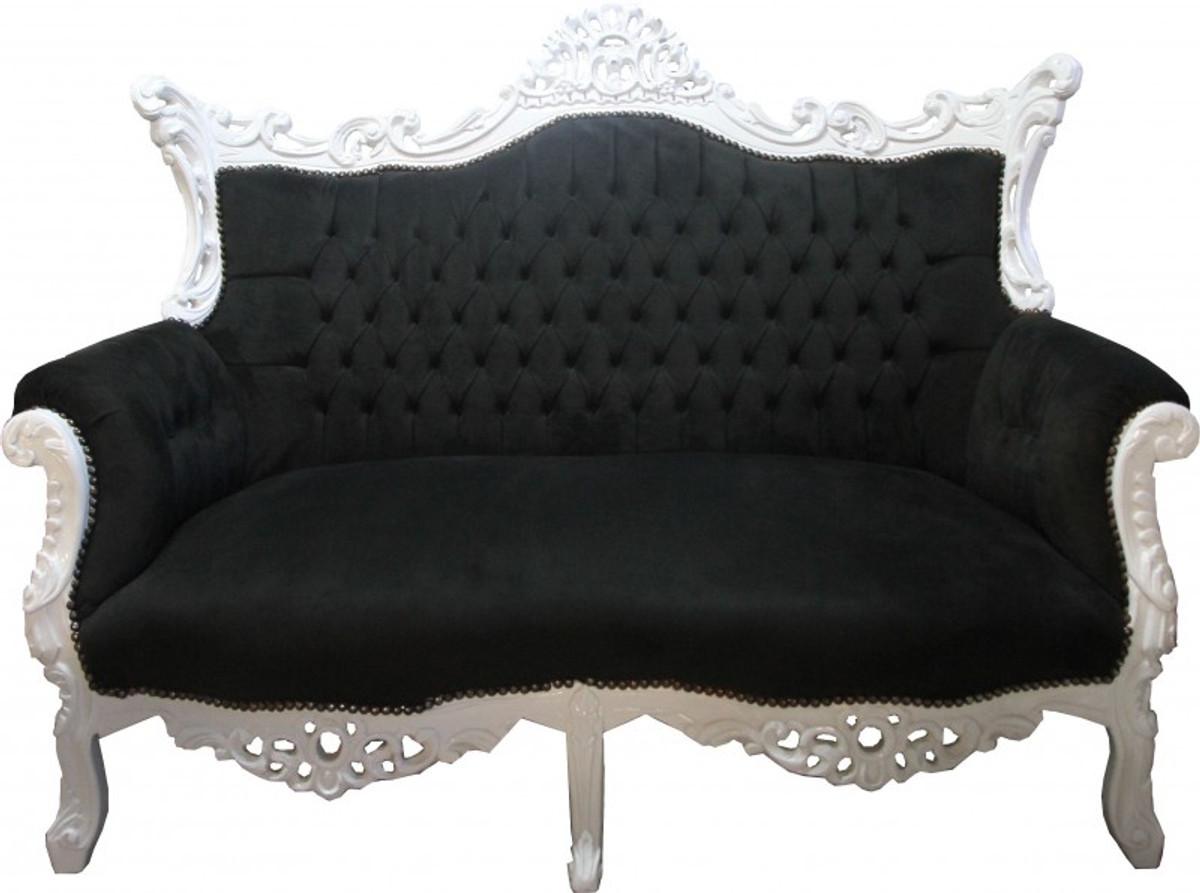 casa padrino barock 2 er sofa master schwarz weiss antik stil m bel sofas barock sofas. Black Bedroom Furniture Sets. Home Design Ideas